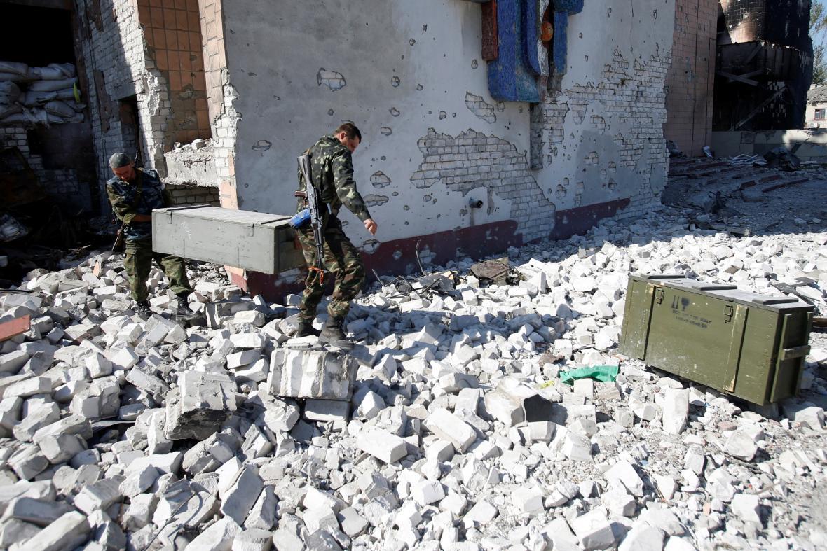 Proruští rebelové na východě Ukrajiny