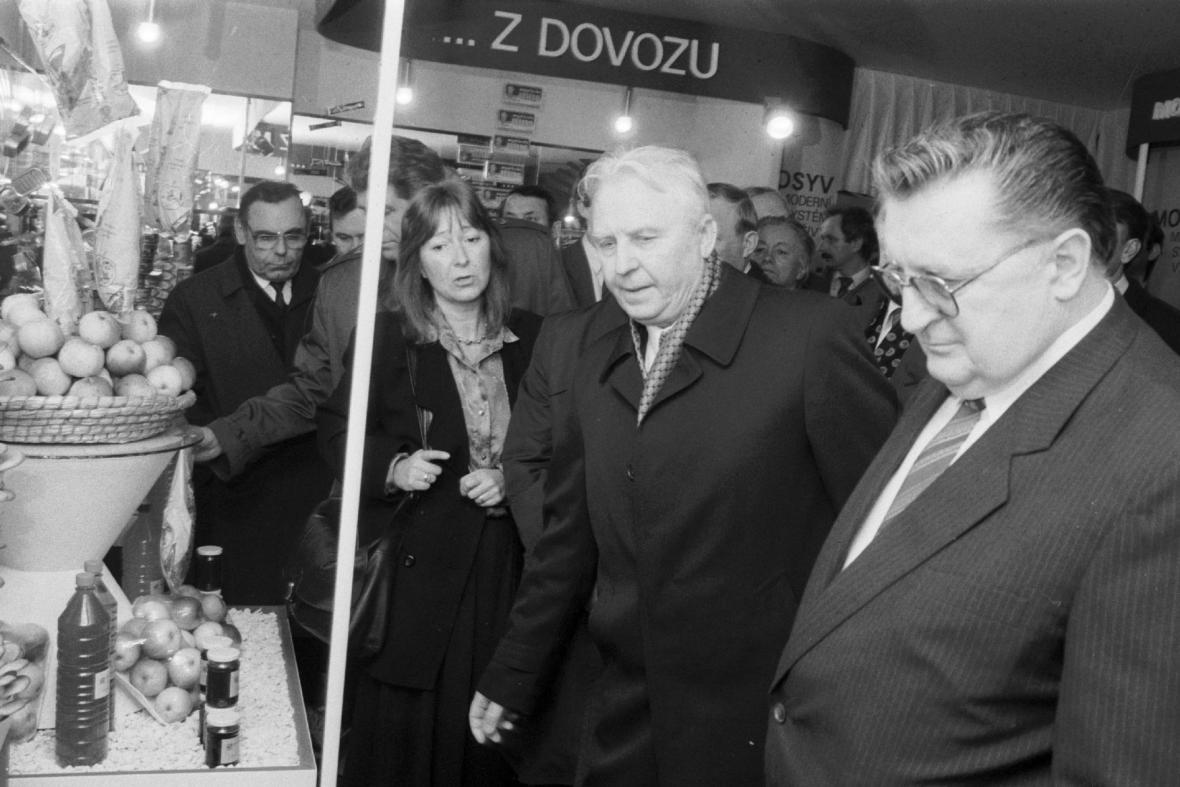 František Čuba s představitelem Komunistické strany Sovětského svazu Jegorem Kuzmičem Ligačovem v březnu 1989
