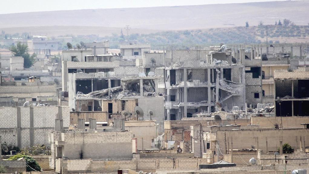 Následky bojů o severosyrské Kobani