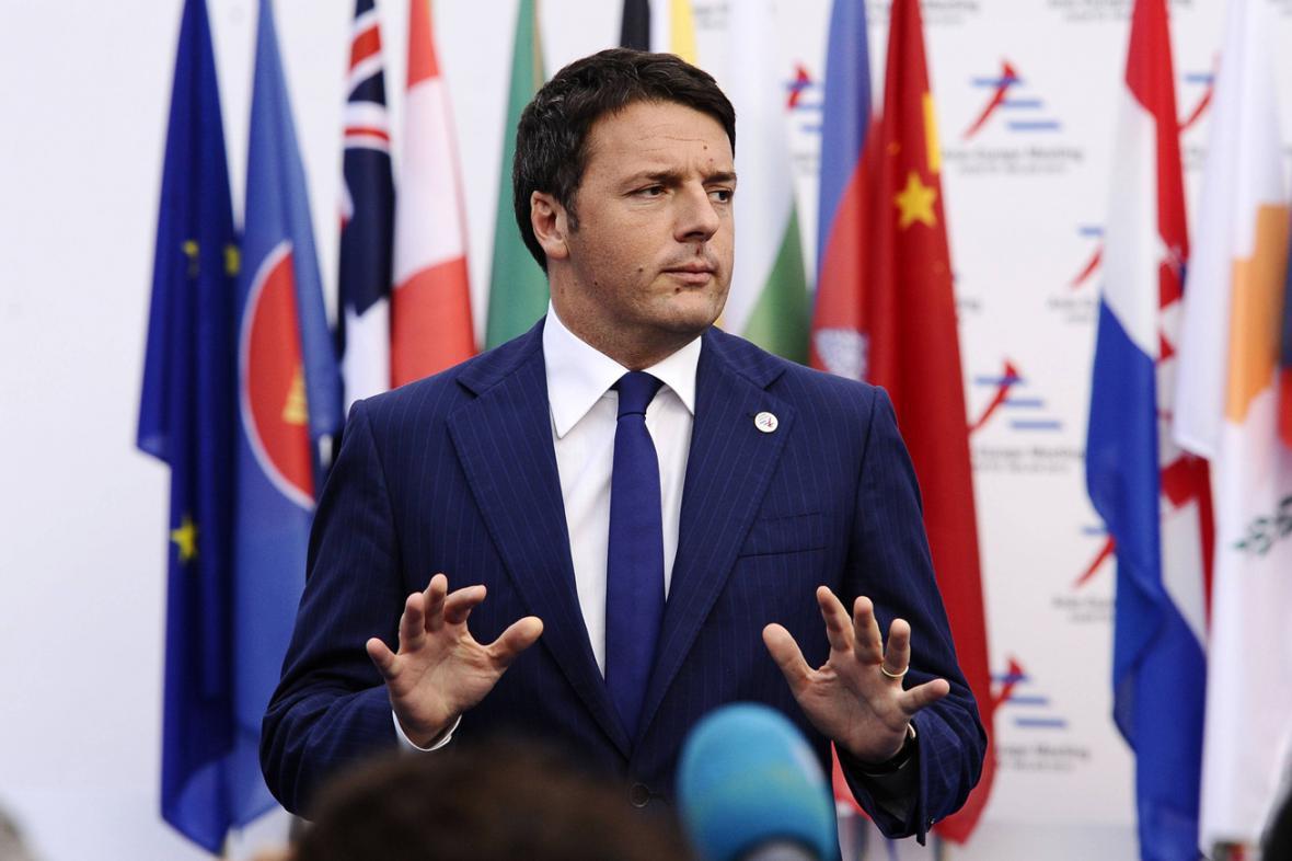 Matteo Renzi na summitu ASEM