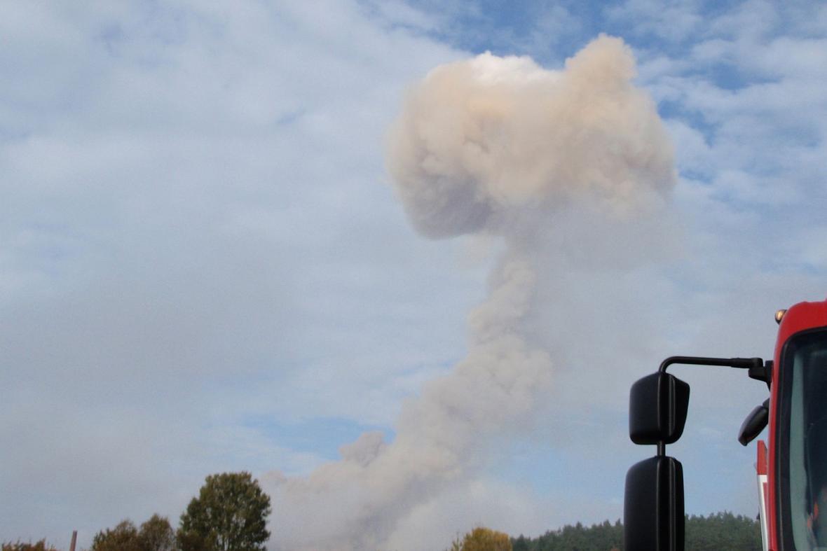 Hřib po výbuchu nad Vrběticemi