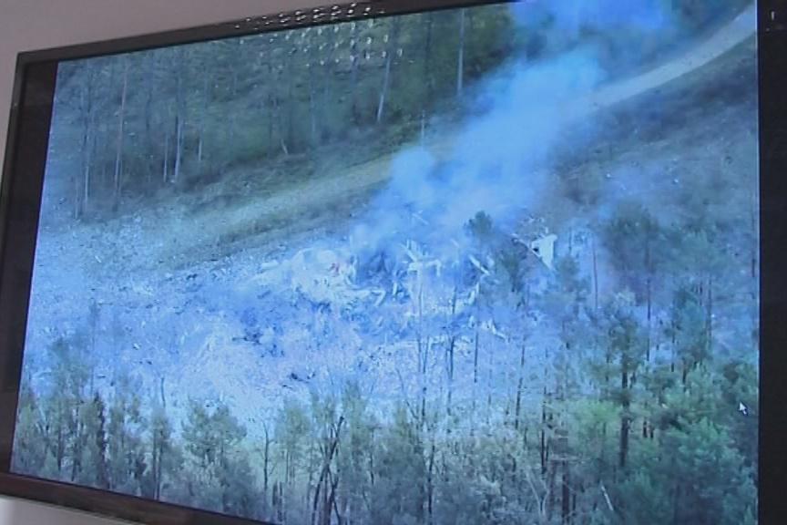 Policejní vrtulník s termovizí zachytil sklad po výbuchu
