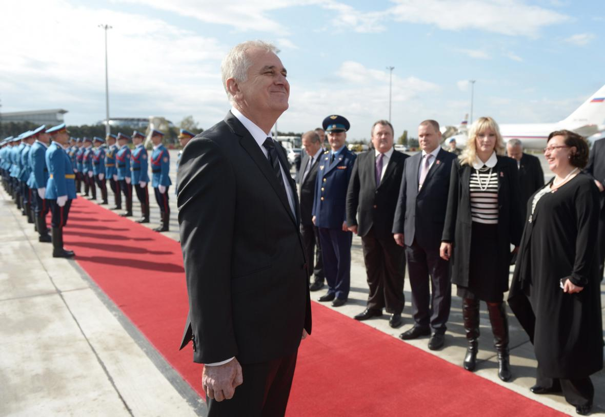 Prezident Tomislav Nikolić před příletem ruského prezidenta