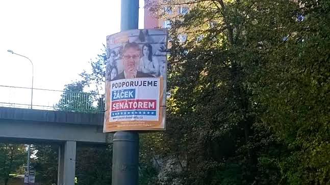 Přelepený plakát Stanislava Štecha