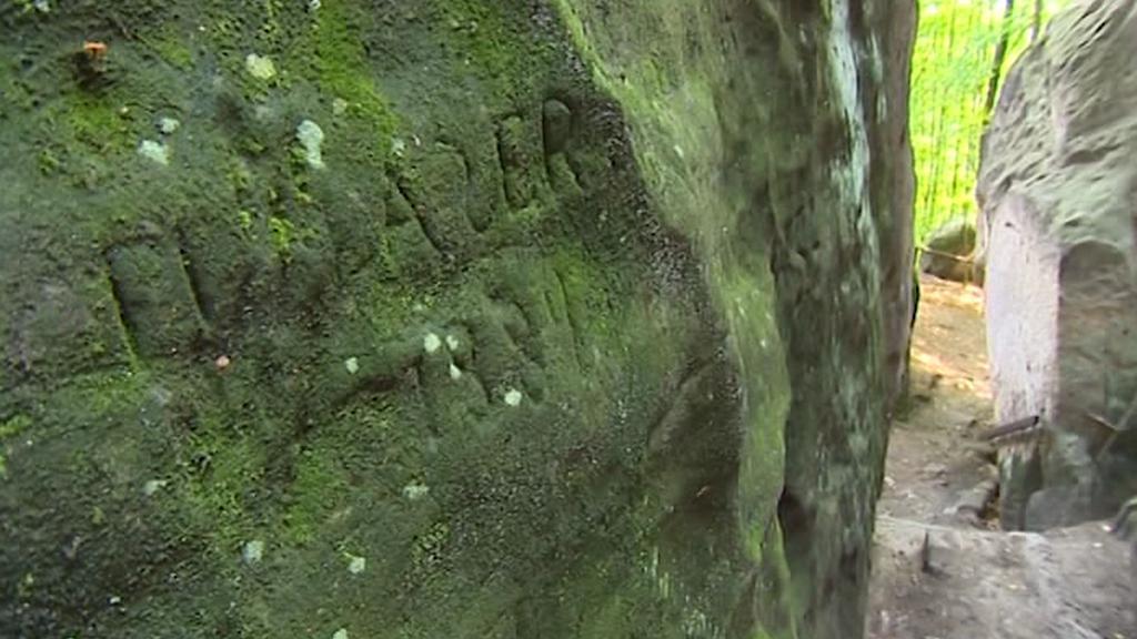 Starý nápis v Českém ráji