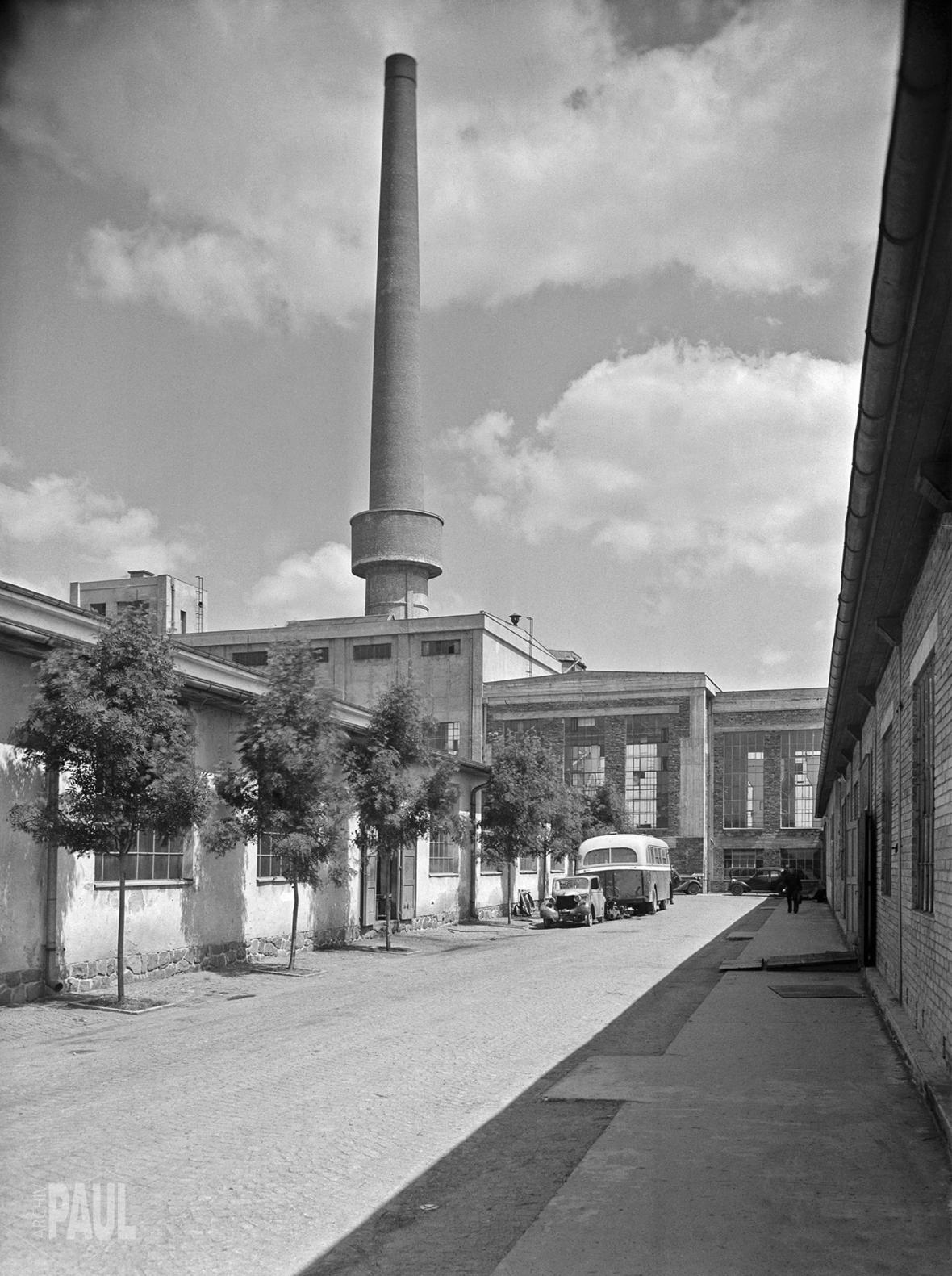 Eckhardtova továrna v Chotěboři (40. léta)