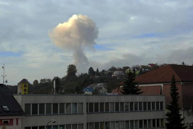 Výbuch munice ve skladu ve Vlachovicích Vrběticích