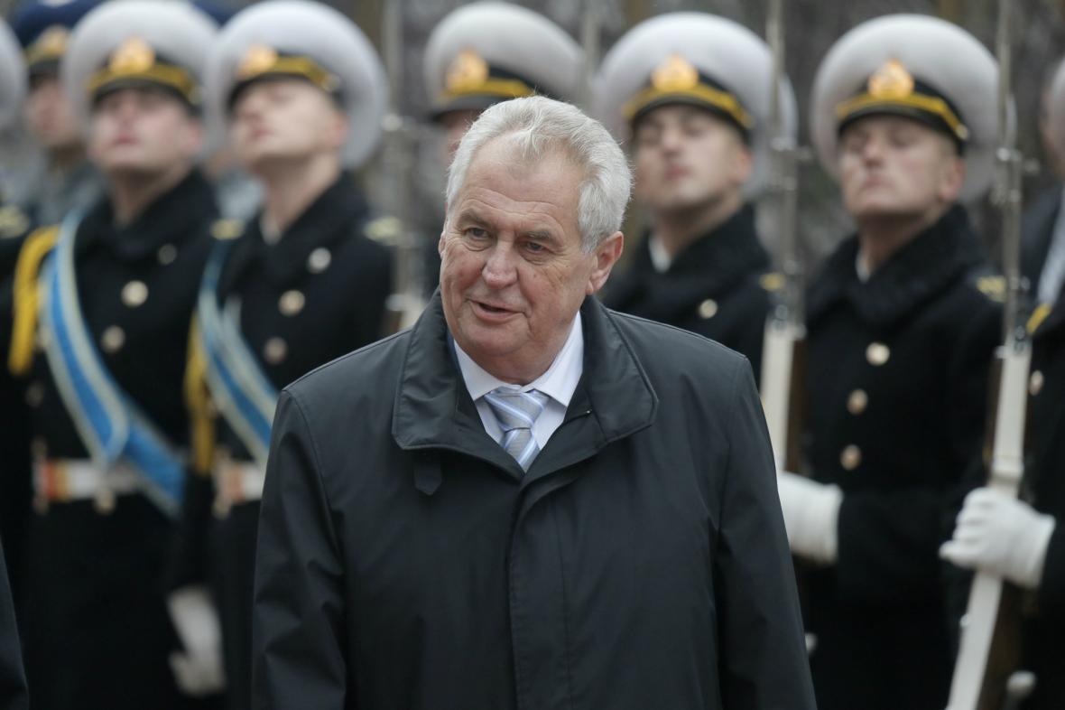 Miloš Zeman na návštěvě Ukrajiny