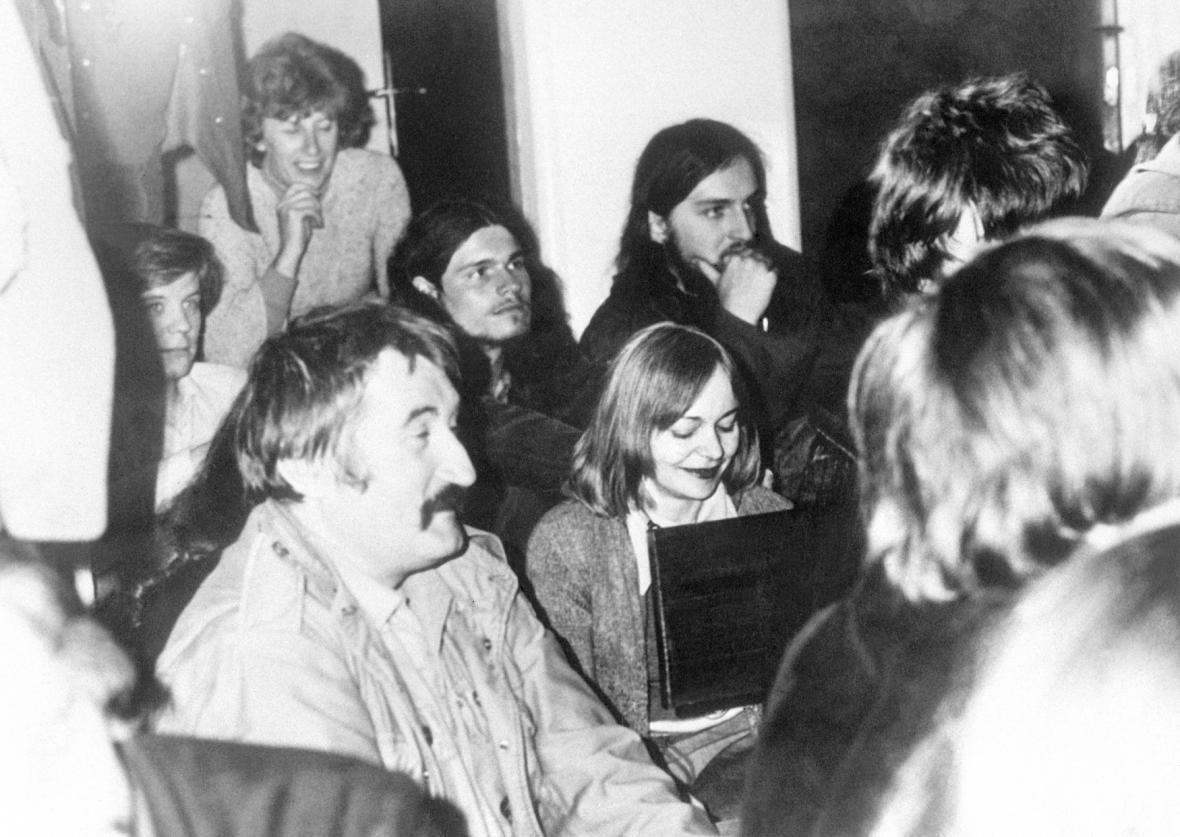 Pavel Landovský s Věrou Jirousovou a Olgou Havlovou