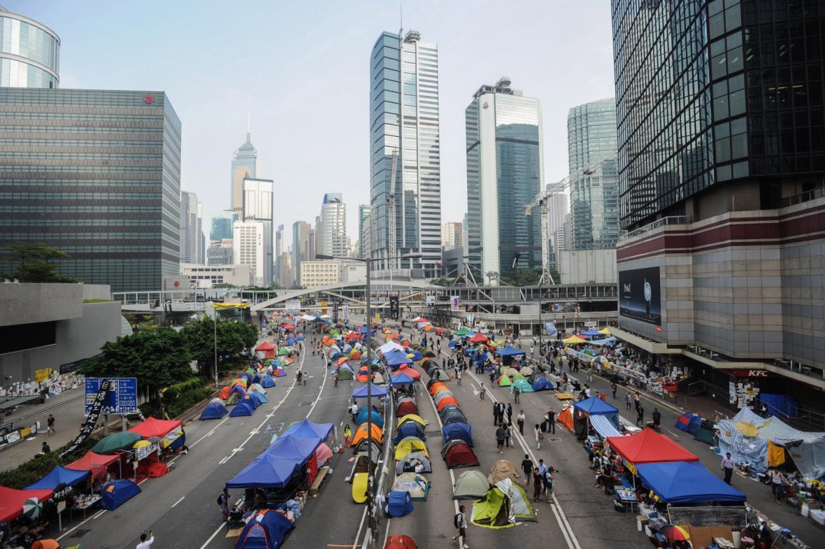 """""""Okupace"""" centra Hongkongu"""