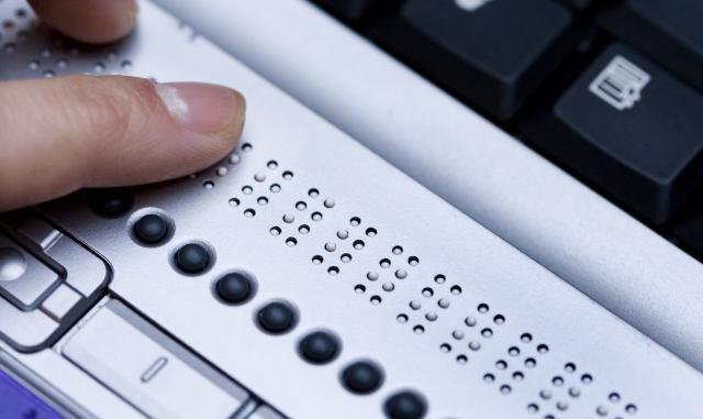 Braillovo písmo na klávesnici
