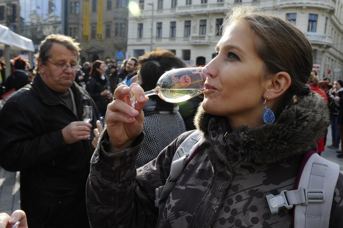 Svatomartinské slavnosti na brněnském náměstí Svobody