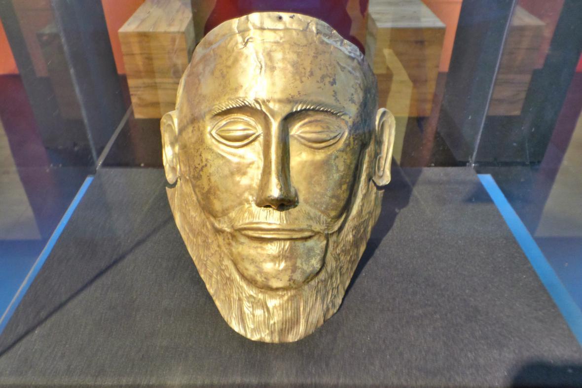 Kopie tzv. Agamemnonovy masky
