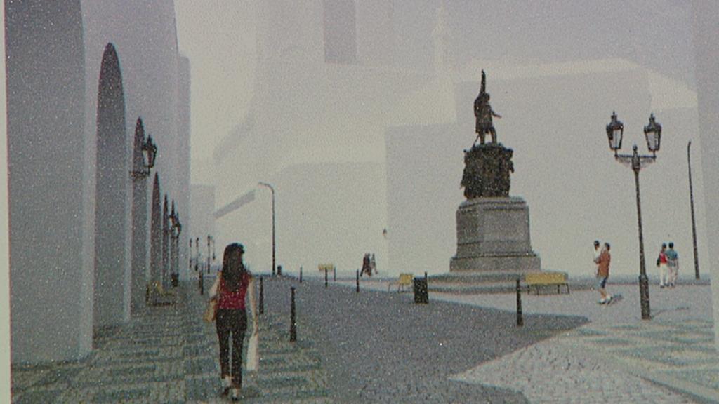 Vizualizace vítězného návrhu počítá s umístěním pomníku na náměstí