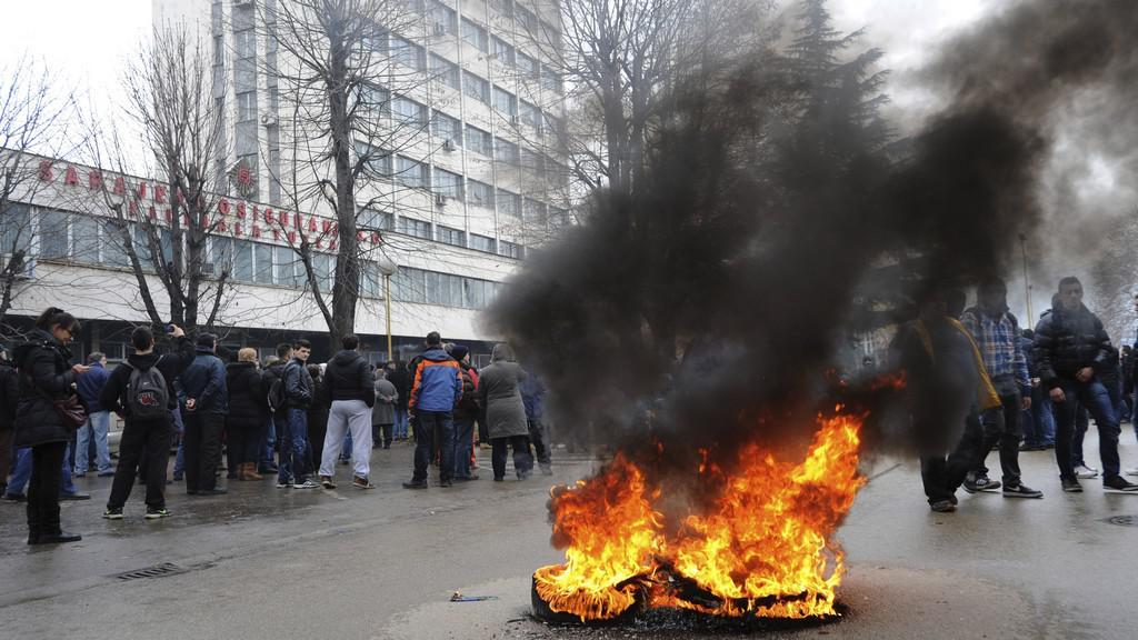 Protesty v bosenské Tuzle