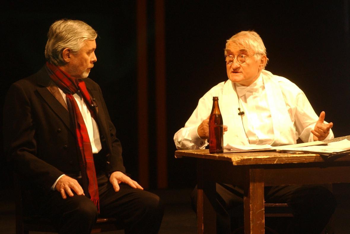 Josef Abrhám a Pavel Landovský