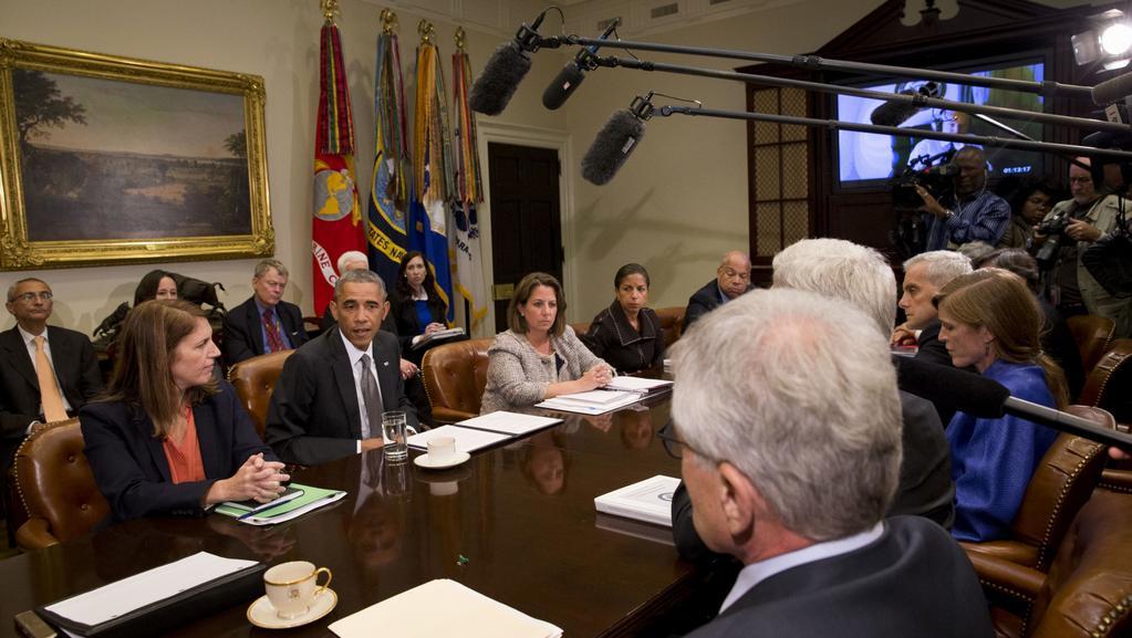 Prezident Obama na zasedání bezpečnostního výboru
