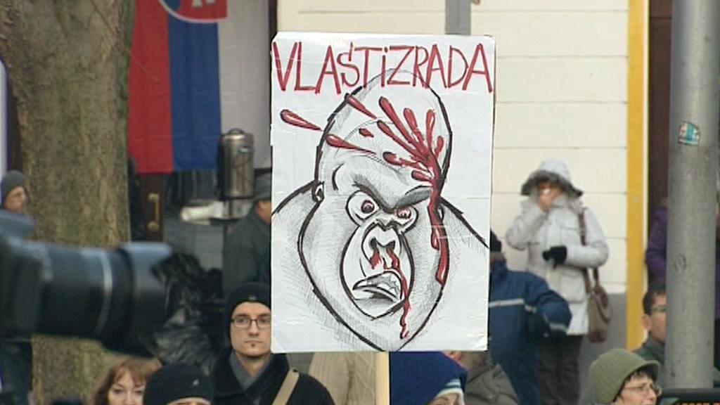 Demonstrace proti kauze Gorila z dubna 2012