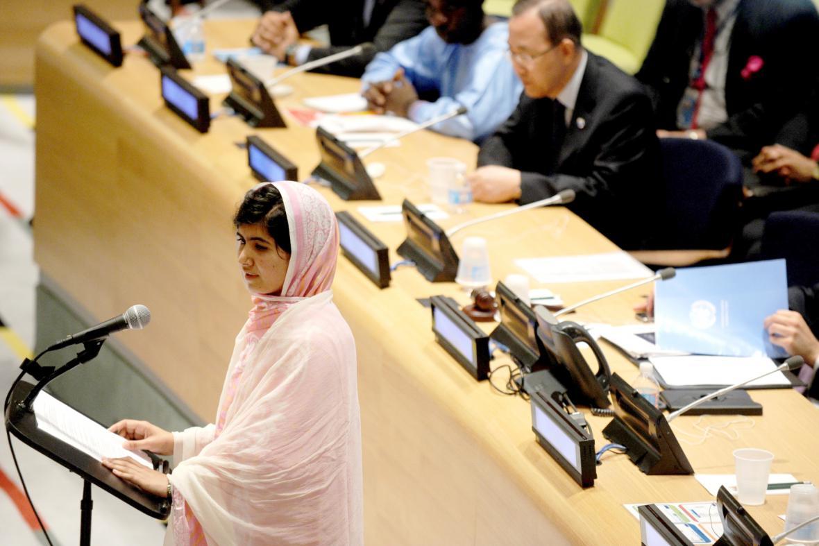 Malala při projevu v OSN
