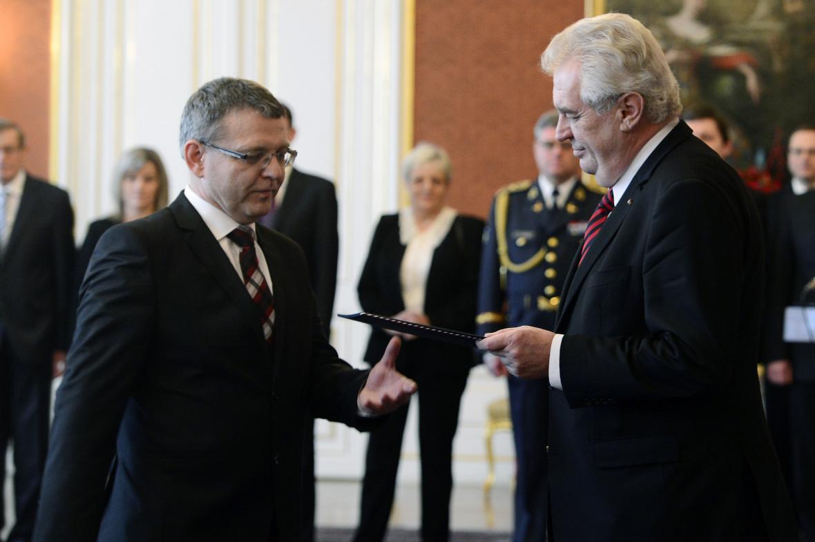 Jmenování Lubomíra Zaorálka ministrem zahraničí