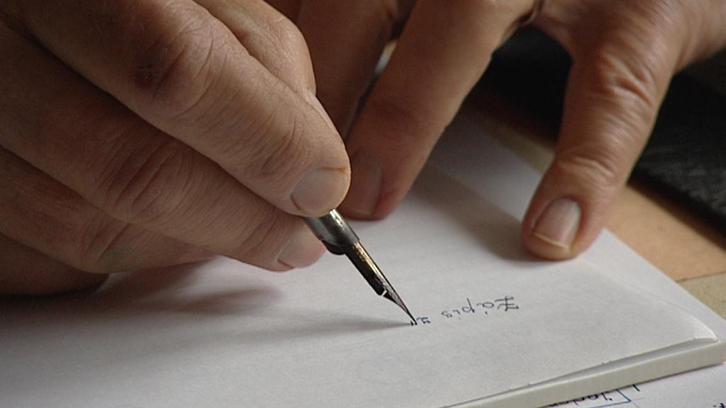 Ruční psaní kroniky