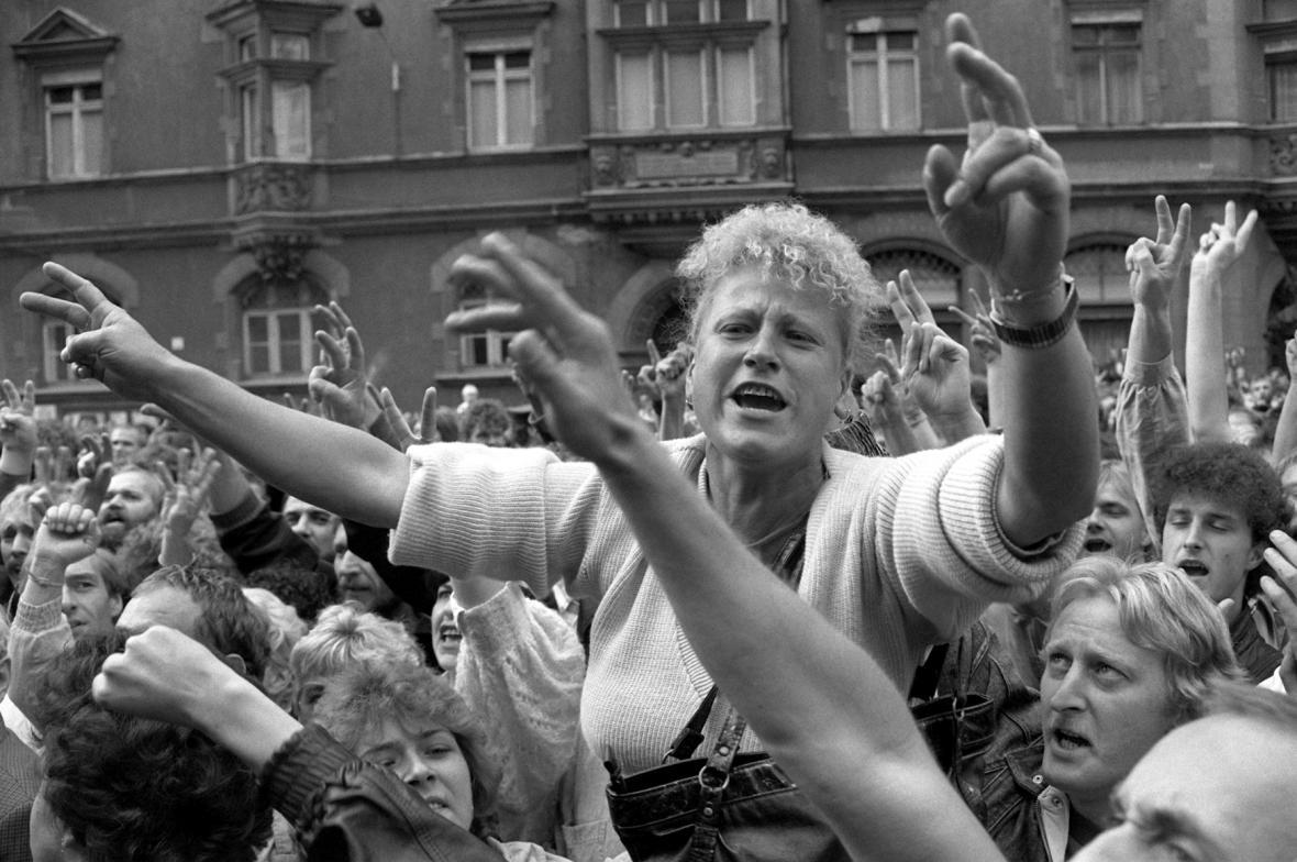Demonstrace v Lipsku, září 1989