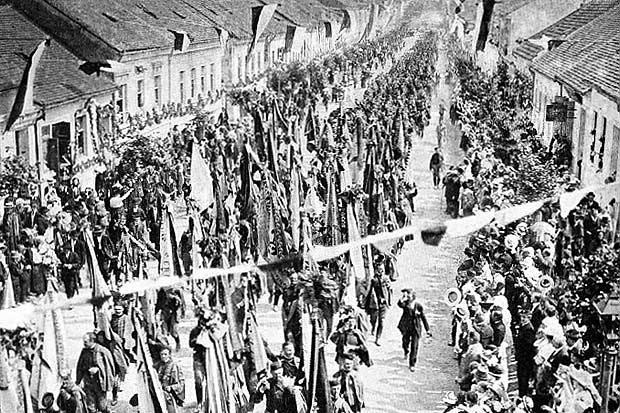 Sokolský slet v Brně v roce 1914