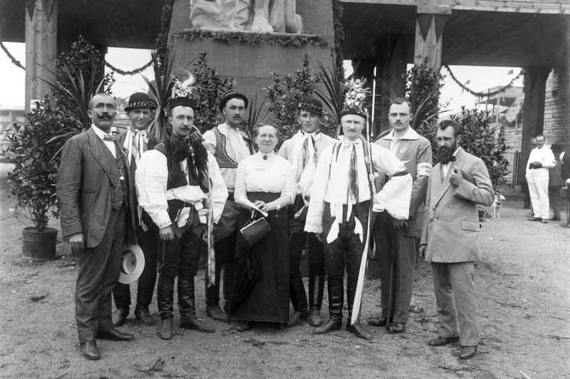 Účastníci brněnského sletu v roce 1914