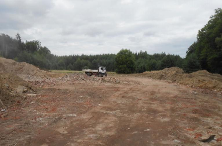 Místo bývalé roty Hájnice po demolici