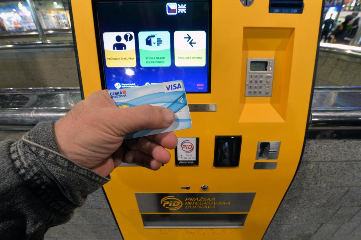 Nový jízdenkový automat v Praze