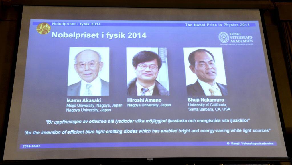Prezentace Nobelovy ceny za fyziku