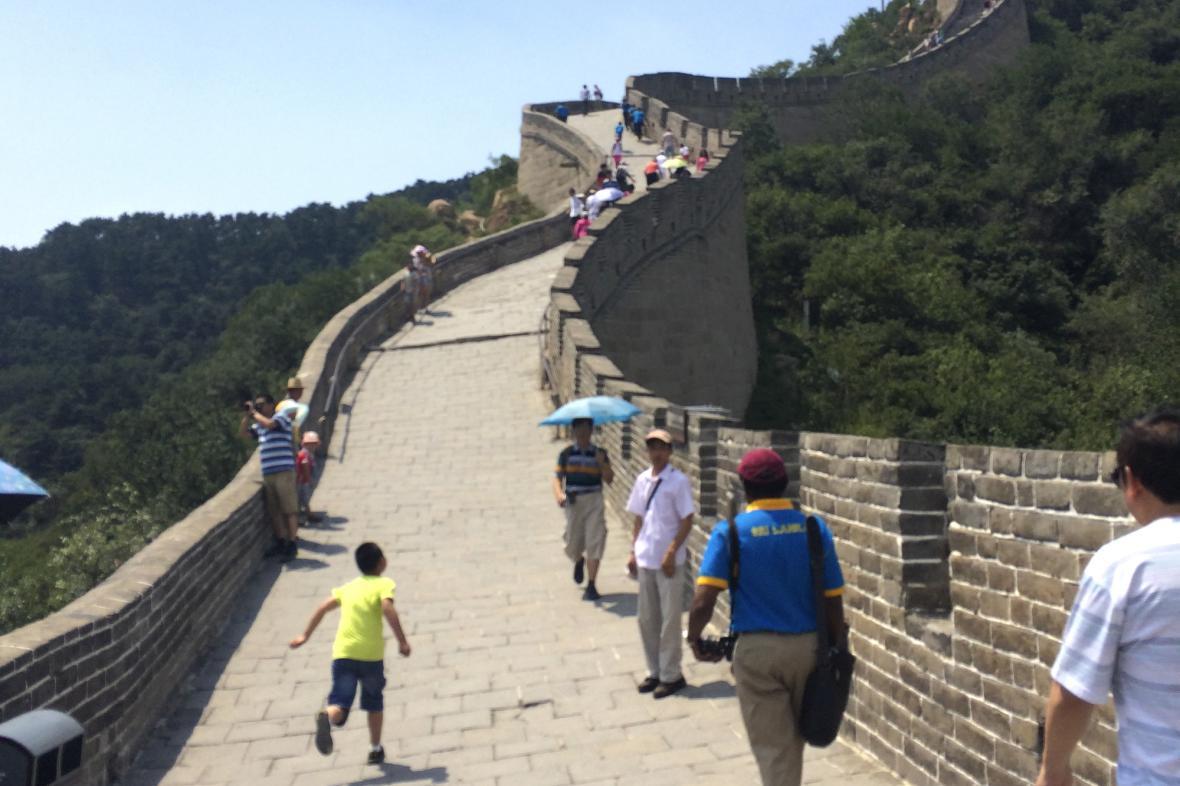 Velká čínská zeď je místy velmi strmá