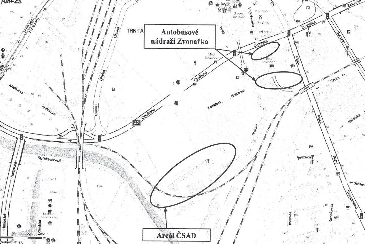 Pozemky pro brněnské nádraží v odsunuté poloze