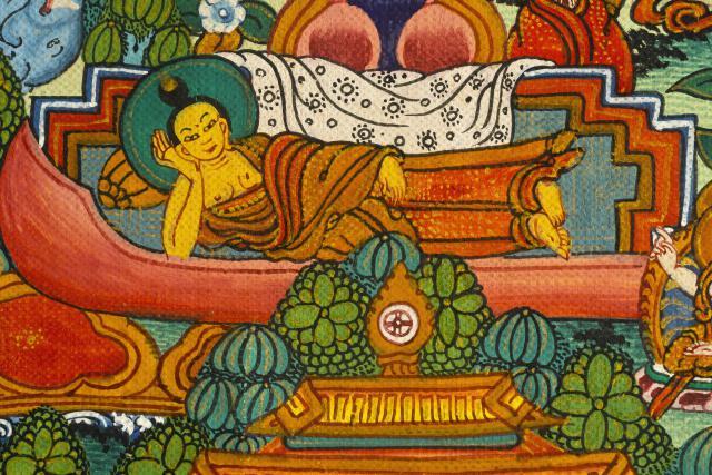 Thangka často znázorňuje život Buddhy