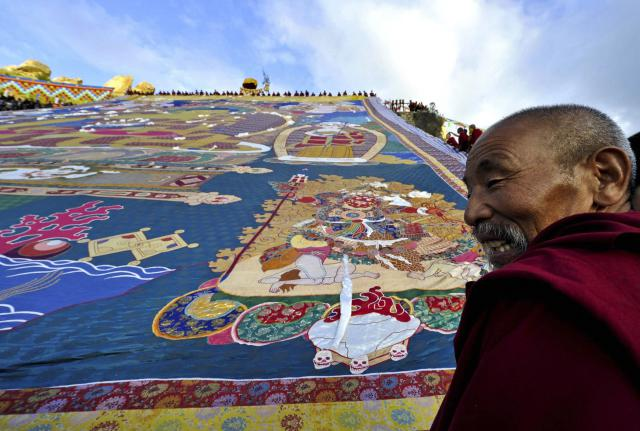 Z thangk se mniši původně učili o Buddhově životě