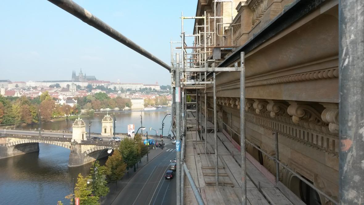 Oprava fasády Národního divadla
