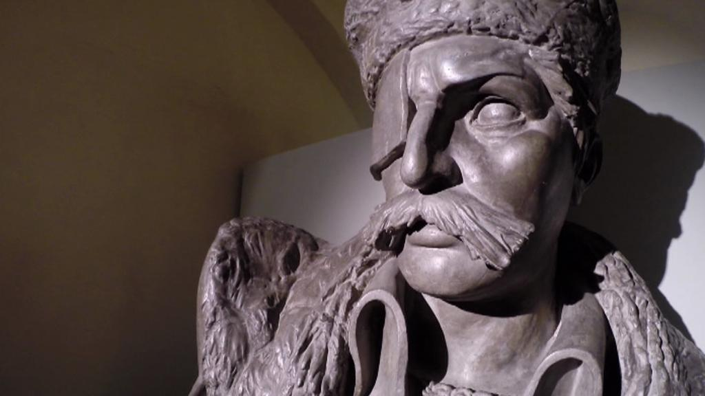Jan Žižka - socha v Husitském muzeu v Táboře