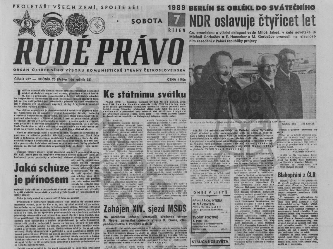 Rudé právo - 7.10.1989