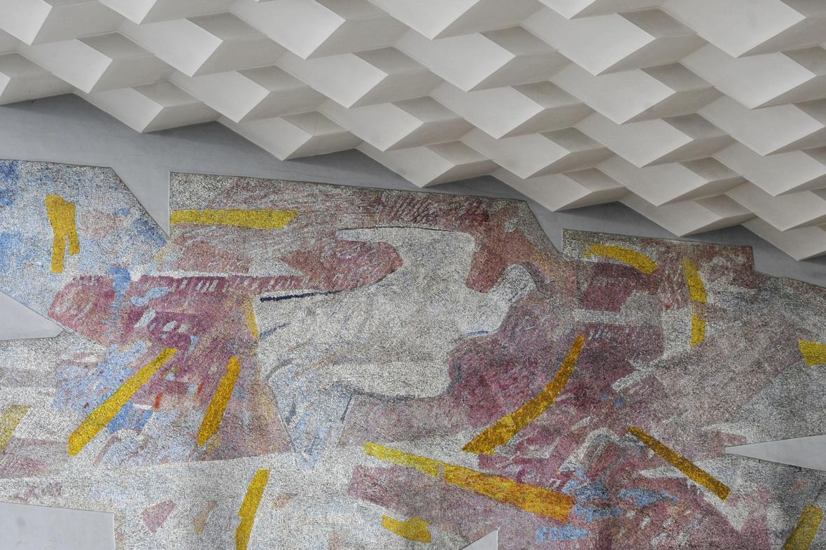 Mozaika na havířovském nádraží