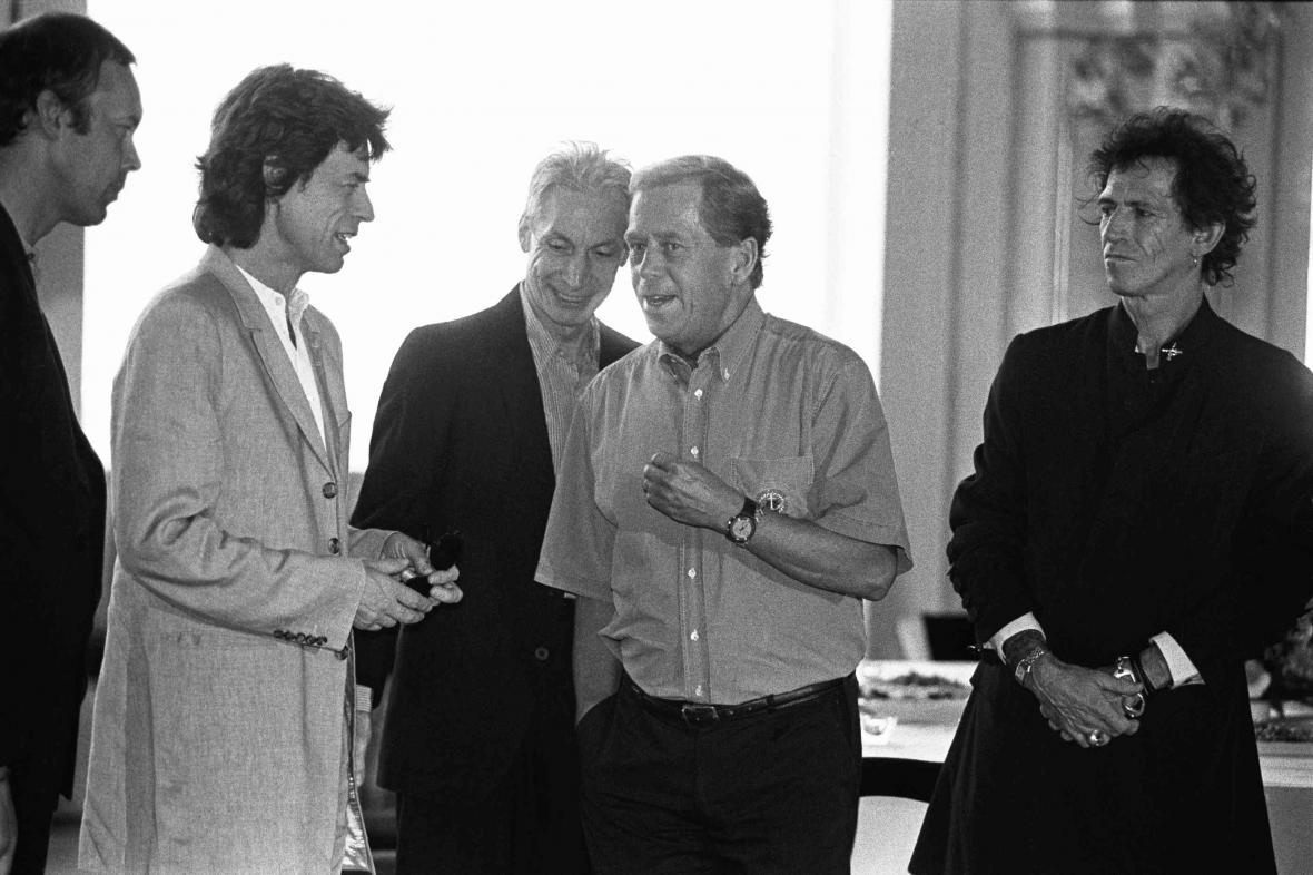 Václav Havel s Rolling Stones