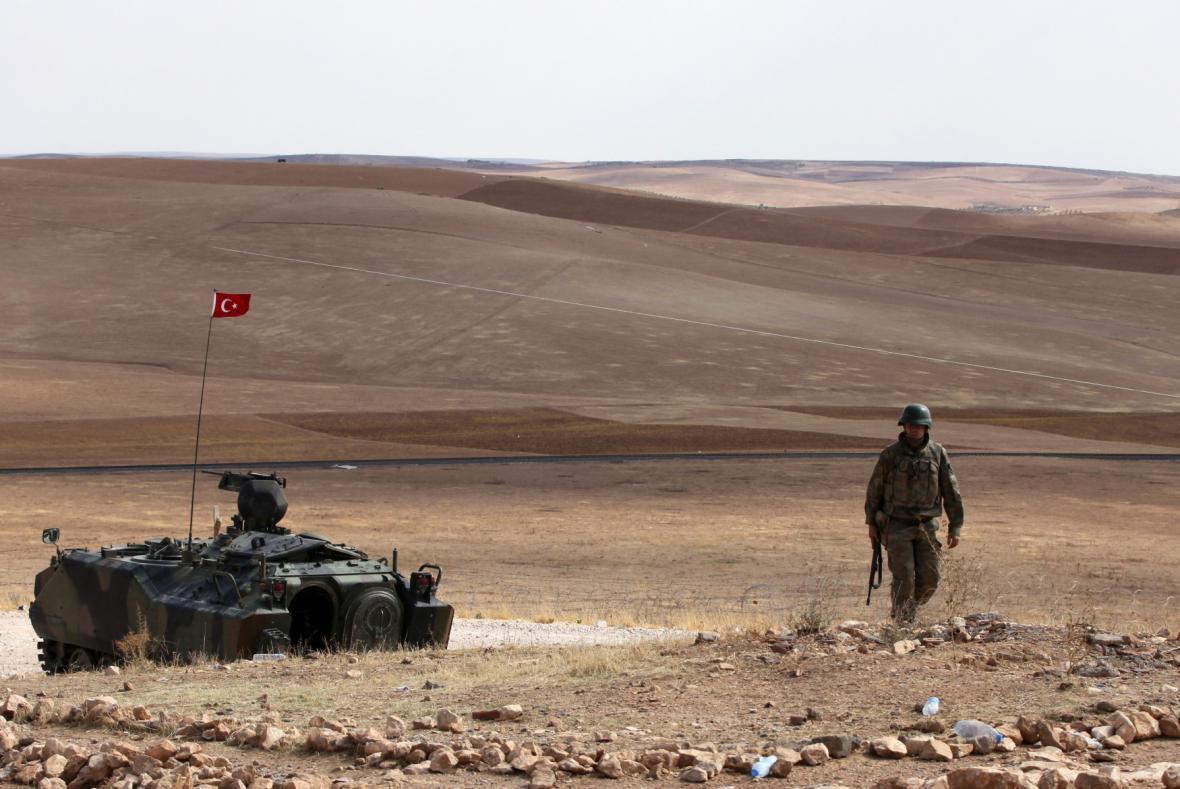 Turecká armáda u Kobani