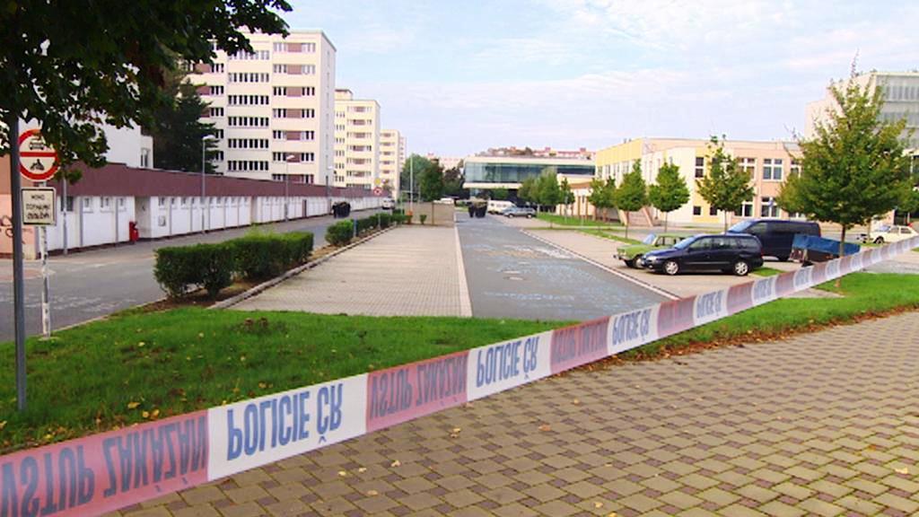 Uzavřený areál pardubické univerzity