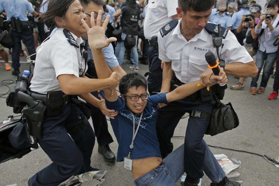 Potyčky v Hongkongu