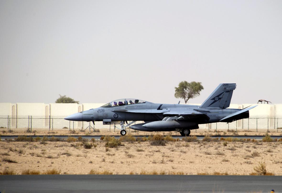 Bojový letoun australské armády F/A-18F Super Hornet