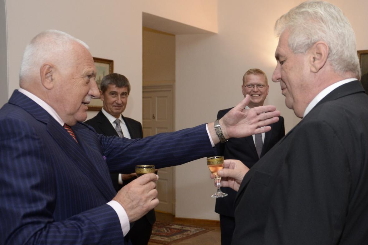 Miloš Zeman slaví na Hradě 70. narozeniny