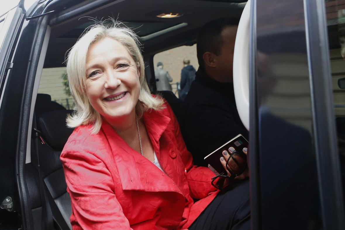 Marine Le Penová při eurovolbách