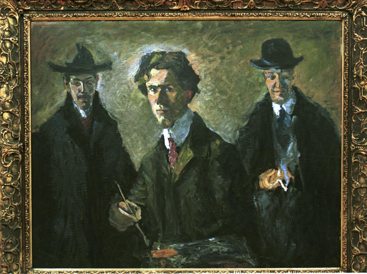 Bohumil Kubišta - Modrý autoportrét