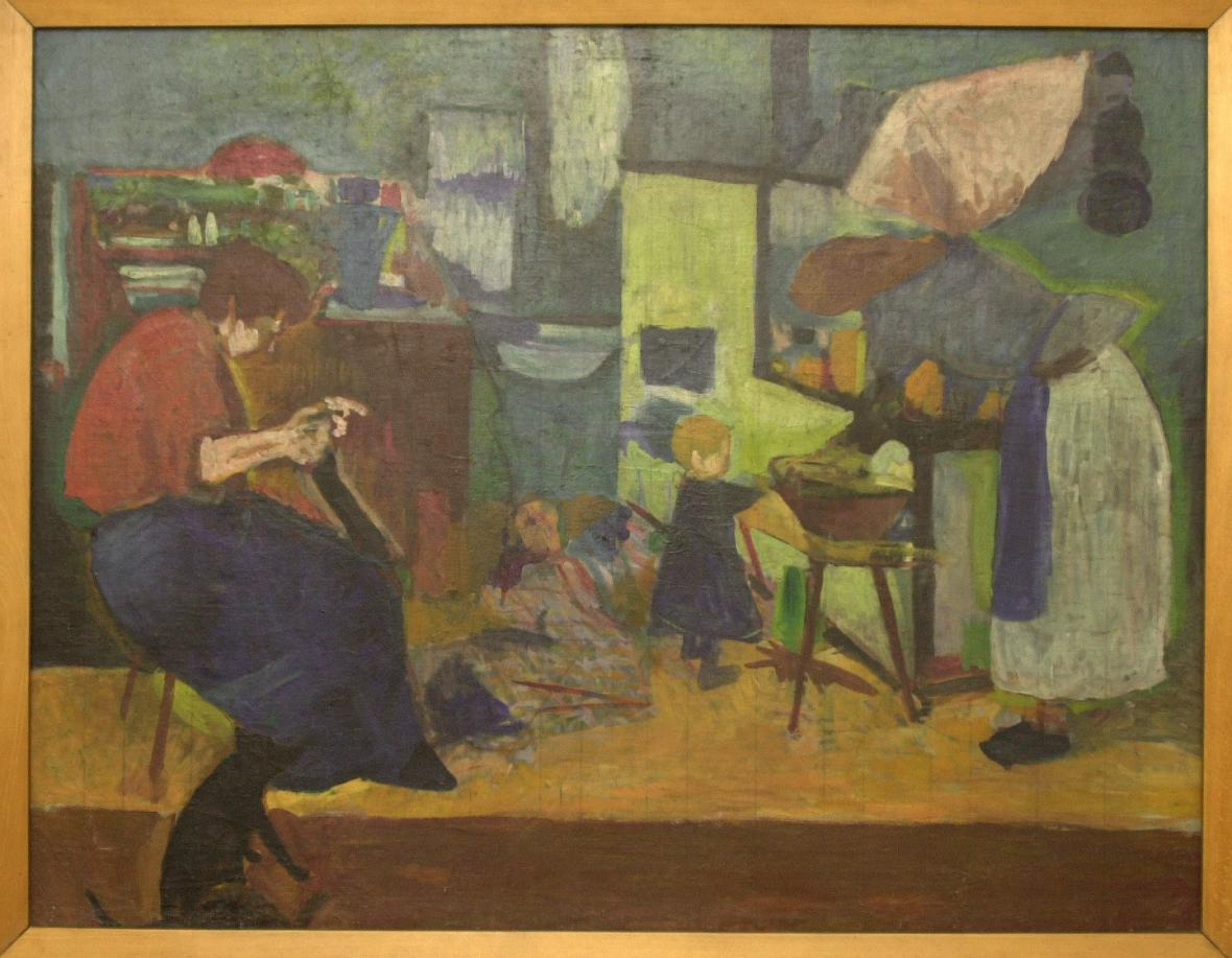 Bohumil Kubišta - V kuchyni