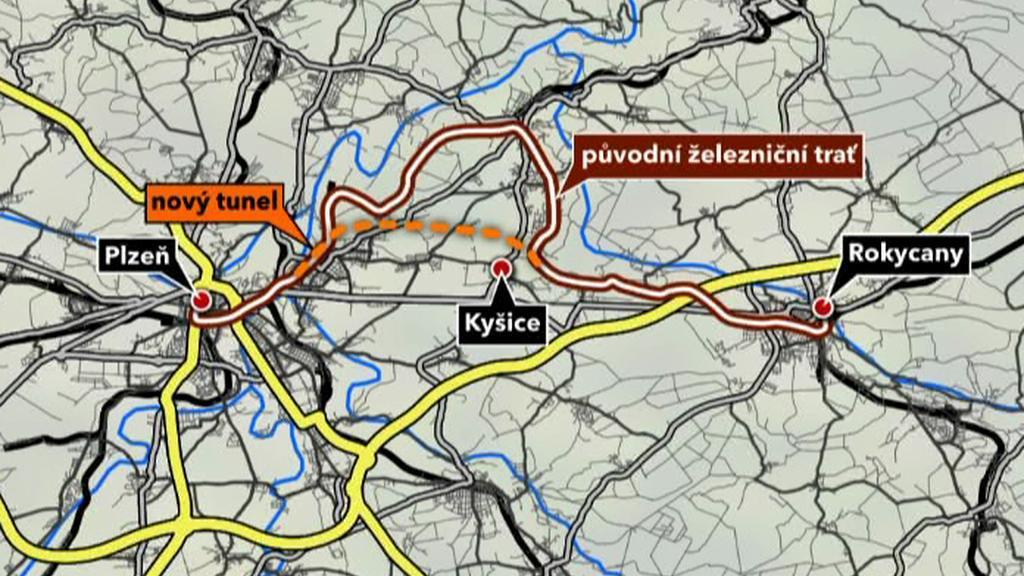 Přeložka trati u Plzně