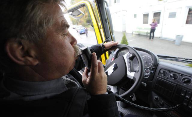 Dechová zkouška u řidiče